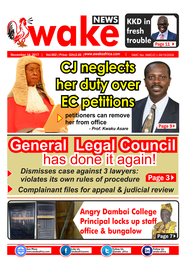 Awake Newspaper Tuesday, November 14, 2017 edition